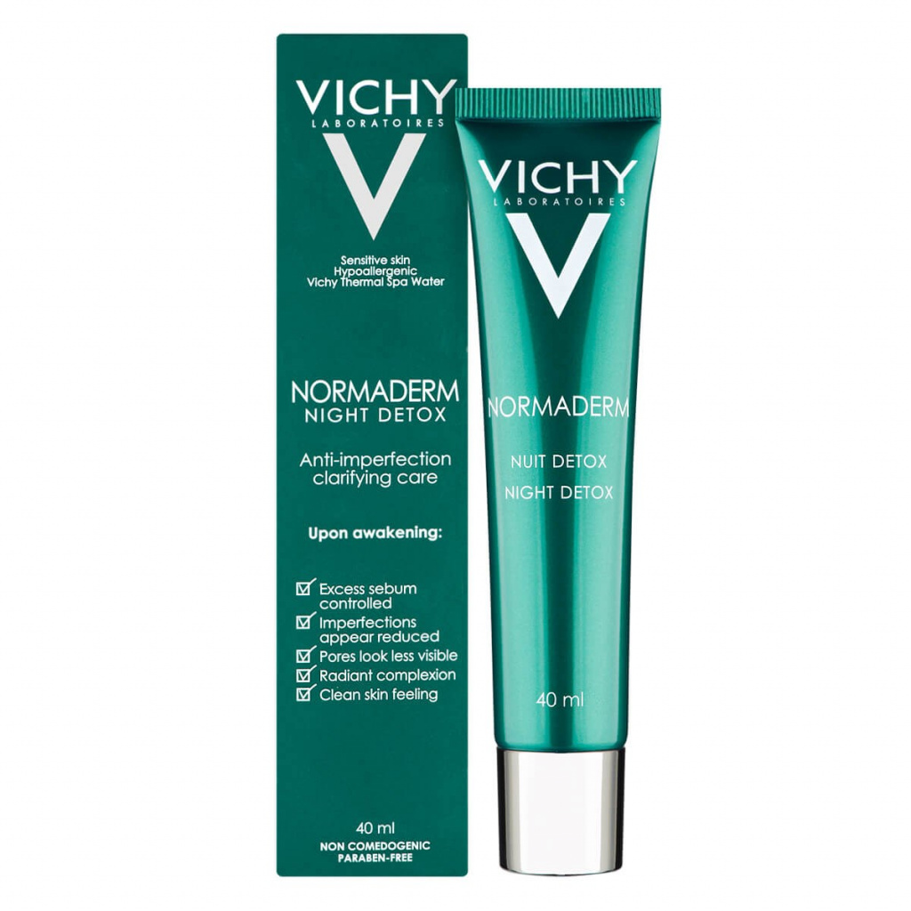 Vichy Normaderm Night Detox Anti-Imperfection Clarifying Care