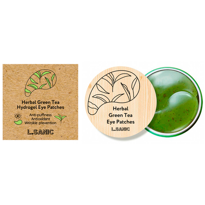 L'Sanic Herbal Green Tea Hydrogel Eye Patches